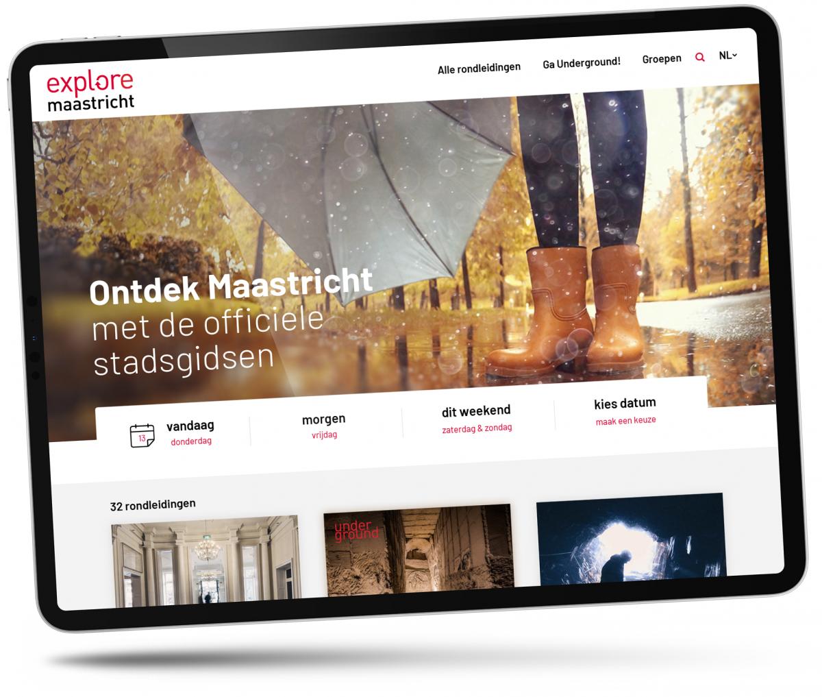 Explore Maastricht homepage